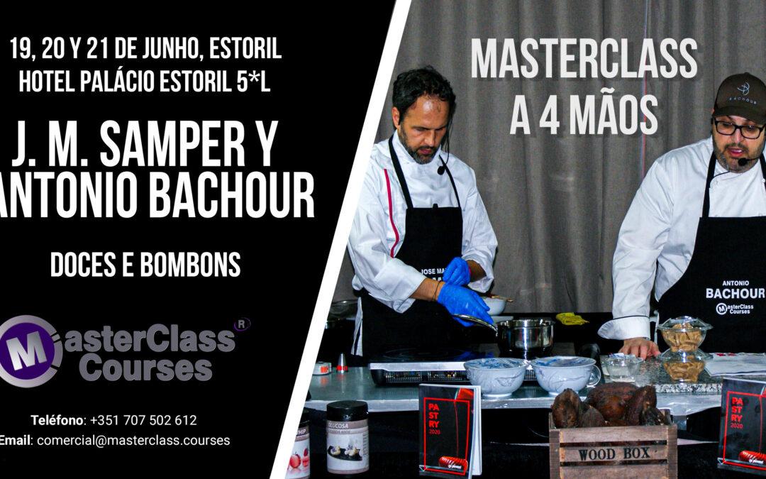 Masterclass con Antonio Bachour y José M. Samper. Bollería y bombones. Estoril(Portugal)